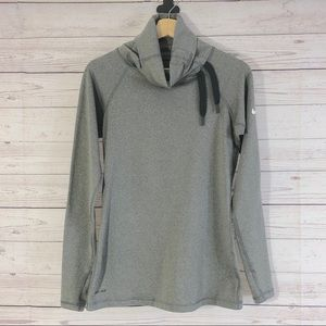 Nike Dri-Fit Gray Cowl Neck Athletic Pullover Sz M
